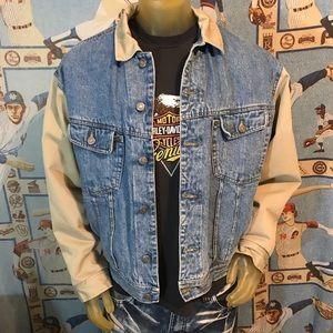 Vintage GAP Denim Lined Jacket / Coat Size Large